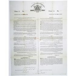 Poyaisian Land Grant, 1827 Class A Land Grant fr 1000 Acres, I/U Signed by Sir Gregor MacGregor