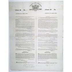 Poyaisian Land Grant, 1830 Class B Land Grant fr 400 Acres, I/U Signed by Sir Gregor MacGregor