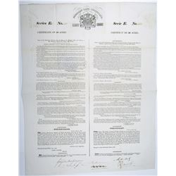 Poyaisian Land Grant, 1830 Series E Land Certificate for 50 acres, I/U Land Certificate Signed by Si