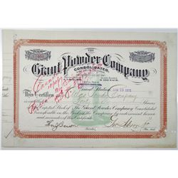Giant Powder Co. 1915 I/C Stock Certificate