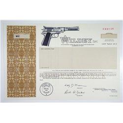 Wildey, Inc. 1990 Specimen Stock Certificate
