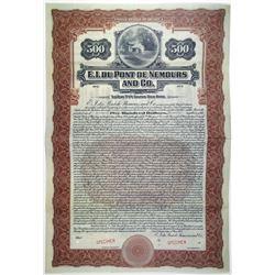E.I. du Pont de Nemours and Co. 1921 Specimen Bond Rarity