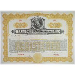 E.I. du Pont de Nemours and Co., 1921 Specimen Registered Bond