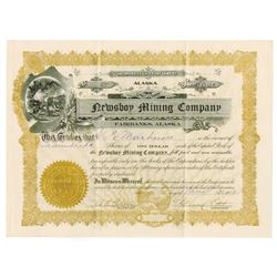 Newsboy Mining Co., 1912 I/U Stock Certificate