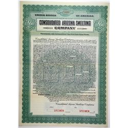 Consolidated Arizona Smelting Co. 1919 Specimen Bond