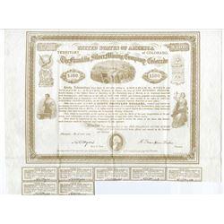 Franklin Silver Mining Company of Colorado, 1869 I/U Bond Signed by Civil War Hero, Lt Colonel Benja