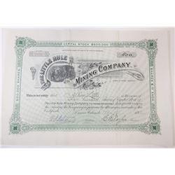 Little Rule Mining Co., Mines at Aspen, Colorado, 1892 I/U stock Certificate.
