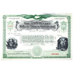 Maid of Erin Silver Mines Co. Specimen Stock Certificate