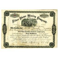 Silver Plume Mining Co. 1883 I/U Stock Certificate