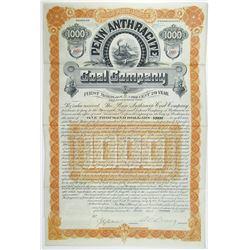 Penn Anthracite Coal Co. 1889 I/U Bond