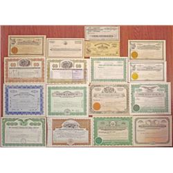 Western Mining Company Stock Certificate Assortment, ca.1880 to 1950.