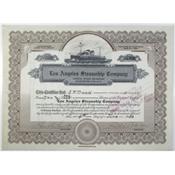 Los Angeles Steamship Co. 1924 I/C (Reissued) Stock Certificate