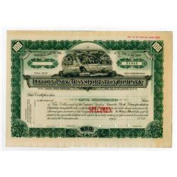 Lincoln Park Transportation Co. ca. 1900-1910 Specimen Stock.