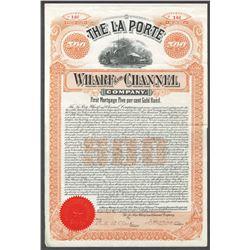 La Porte Wharf and Channel Co, 1899 I/U Bond.