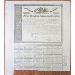 Fox and Wisconsin Improvement Co. 1853 Bond