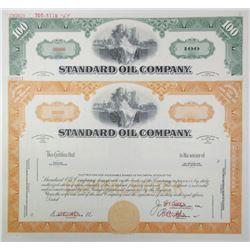 Standard Oil Co., ca.1940-1950 Pair of Specimen Stock Certificates