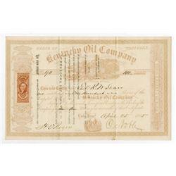 Kentucky Oil Co., 1865 I/U Stock Certificate.
