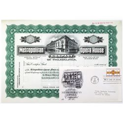 Metropolitan Opera House Co. of Philadelphia, 1900-1920 Specimen Stock Certificate & Metropolitan Op