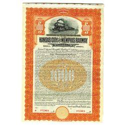 Kansas City and Memphis Railway Co., 1911 Specimen Bond