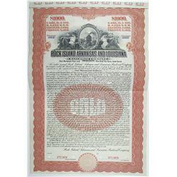 Rock Island, Arkansas and Louisiana Railroad Co. 1910 Specimen Bond