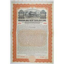 Boston and New York Air Line Railroad Co. 1905 Specimen Bond