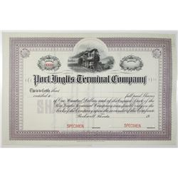 Port Inglis Terminal Co. 1904 Specimen Stock Certificate