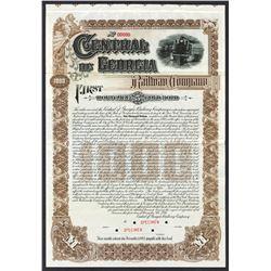 Central of Georgia Railway Company 1895 Specimen Bond.