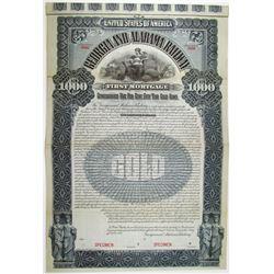 Georgia and Alabama Railway 1895 Specimen Bond
