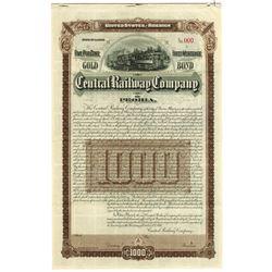 Central Railway Company of Peoria, 1895 Specimen Bond.