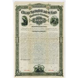 Chicago, Springfield and St. Louis Railroad Co., 1883 Bond.
