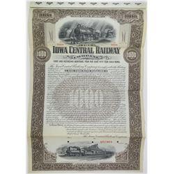 Iowa Central Railway Co. 1901 Specimen Bond