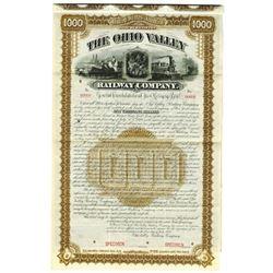 Ohio Valley Railway Co., 1888 Specimen Bond