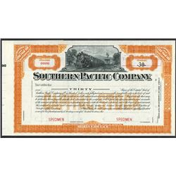 Southern Pacific Co. Specimen Stock Certificate Rarity