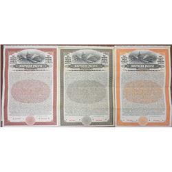 Southern Pacific Co., San Francisco Terminal, 1910 Specimen Bond Trio in Multiple World Currencies.