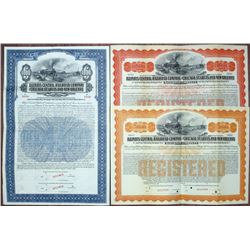 Illinois Central Railroad Co. and Chicago, St. Louis and New Orleans Railroad Co. 1913 Specimen Bond