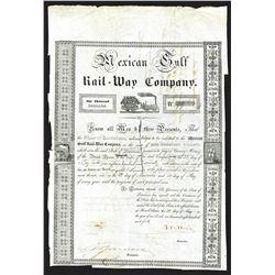 Mexican Gulf Rail-Way Co. 1840 I/C Bond.