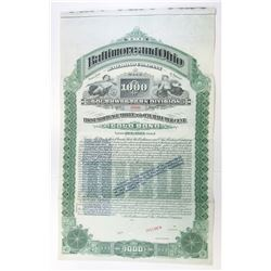 Baltimore and Ohio Railroad Co., 1899 (Reissued with Higher Interest in 1925 and again in 1940) Spec