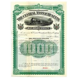 Central Massachusetts Railroad Co., 1895 Specimen Bond.