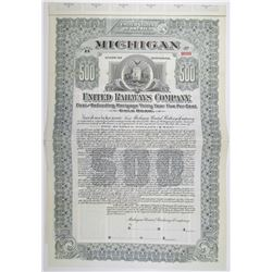 Michigan United Railways Co. 1906 Specimen Bond
