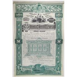 Winona and Southwestern Railway Co. 1888 I/U Bond