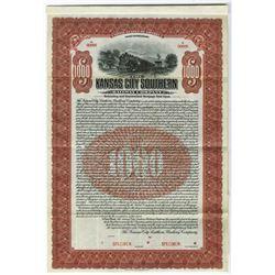 Kansas City Southern Railway Co., 1909 Specimen Bond