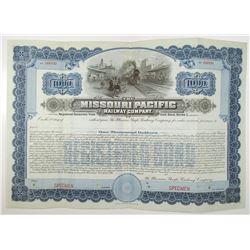 Missouri Pacific Railway Co. 1907 Specimen Bond Rarity