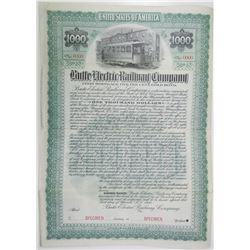 Butte Electric Railway Co., 1900 Specimen Bond Rarity.