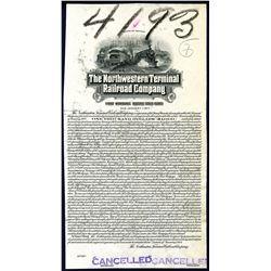 Northwestern Terminal Railroad Co., 1927 Bond Proof.