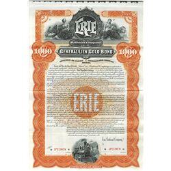 Erie Railroad Co., 1895 Specimen Bond