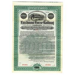 Larchmont Horse Railway Co., 1901 Specimen Bond