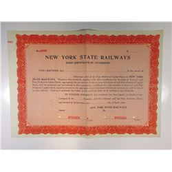 New York State Railways 1909 Specimen Bond