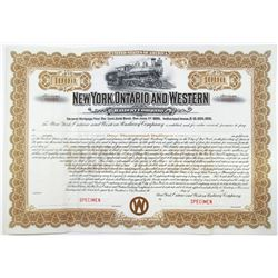 New York, Ontario and Western Railway Co. 1905 Specimen Bond