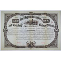 New York, Woodhaven and Rockaway Railroad Co. 1882 Specimen Bond Rarity