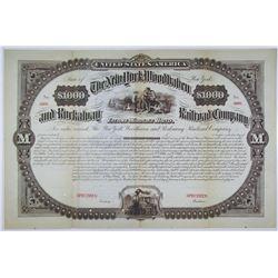 New York, Woodhaven and Rockaway Railroad Co. 1882 Specimen Bond Rarity